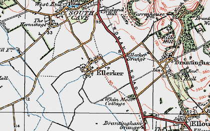 Old map of Westlands in 1924