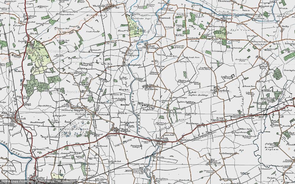 Old Map of Ellerton, 1924 in 1924