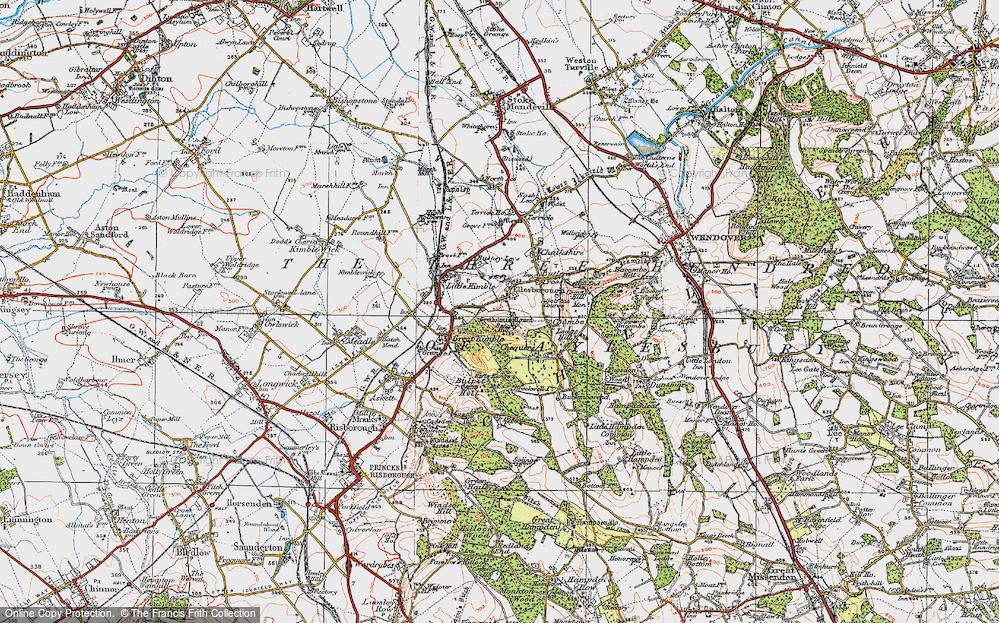 Old Map of Ellesborough, 1919 in 1919