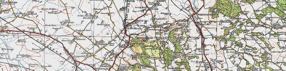 Old map of Ellesborough in 1919