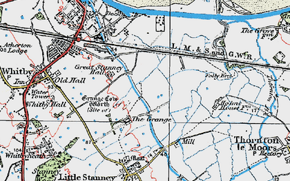 Old map of Ellesmere Port in 1924