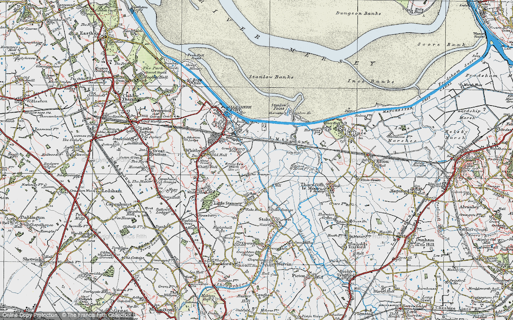 Map of Ellesmere Port 1924 Francis Frith