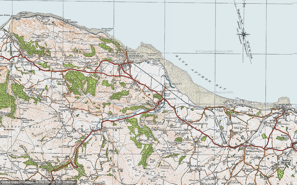 Old Map of Historic Map covering Aldersmead in 1919