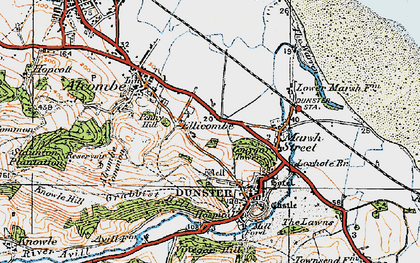 Old map of Aldersmead in 1919