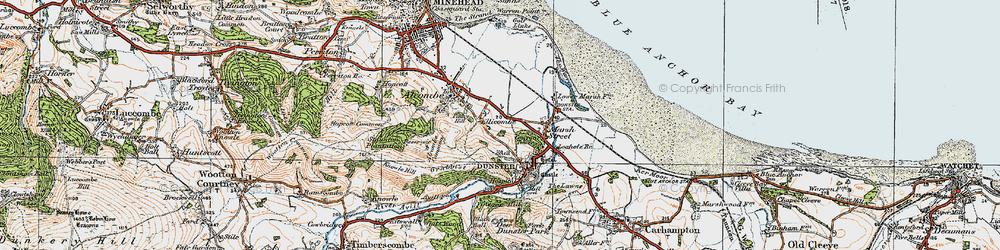 Old map of Aldersmead in 1919