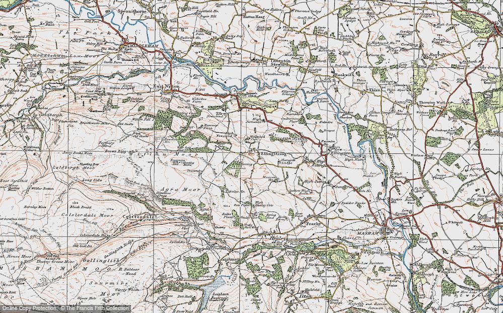 Old Map of Ellingstring, 1925 in 1925