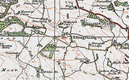 Old map of Bales Ho in 1925
