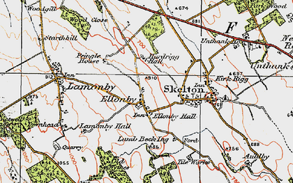Old map of Askrigg Hall in 1925