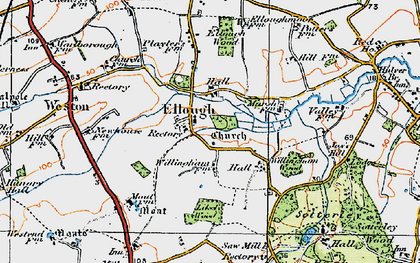 Old map of Willingham Hall in 1921