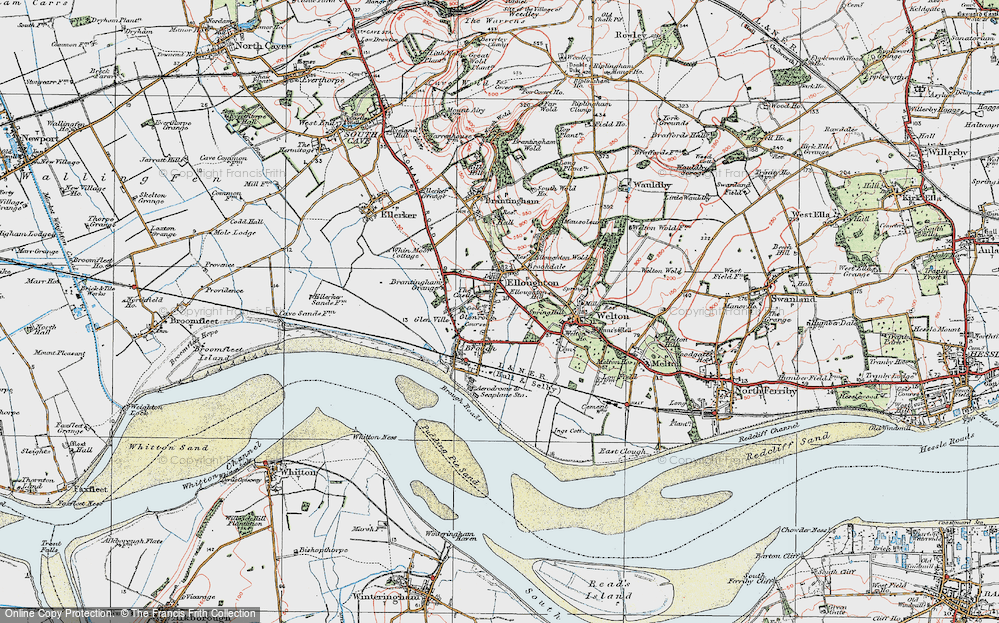Old Map of Elloughton, 1924 in 1924