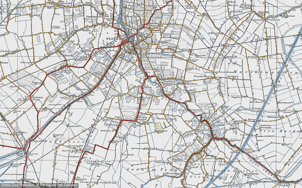 Old Map of Elm, 1922 in 1922