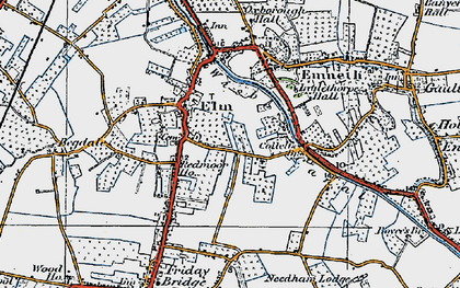 Old map of Elm in 1922