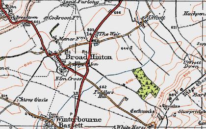 Old map of Elm Cross in 1919
