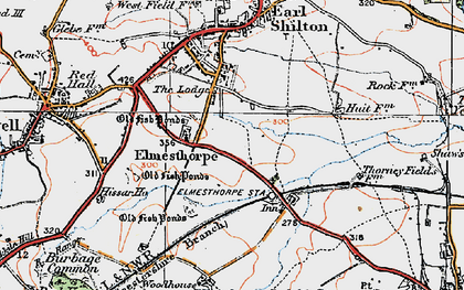 Old map of Aston Firs in 1921