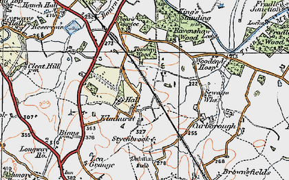 Old map of Lea Grange in 1921