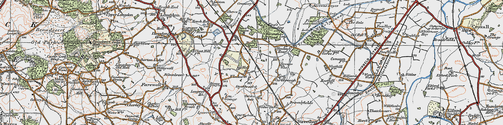 Old map of Tomhay Wood in 1921