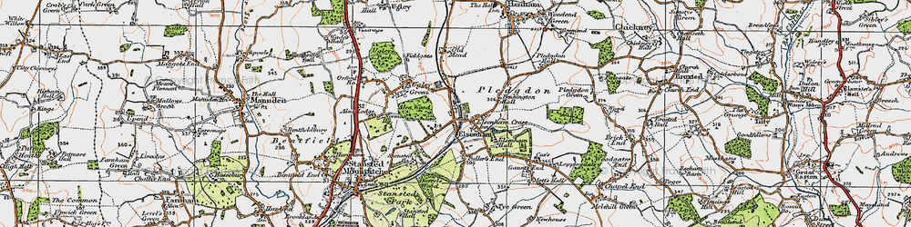 Old map of Alsa Wood in 1919