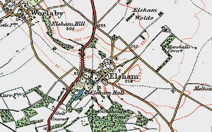 Old map of Wrawby Moor in 1923