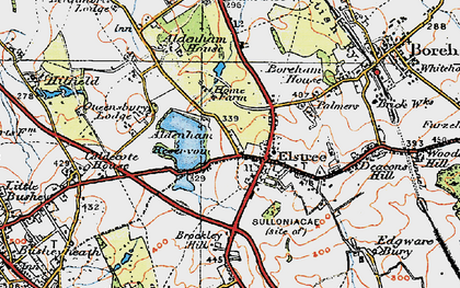 Old map of Aldenham Resr in 1920