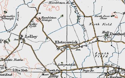 Old map of Lelley Grange in 1924