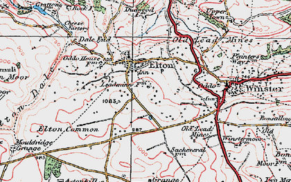 Old map of Elton in 1923