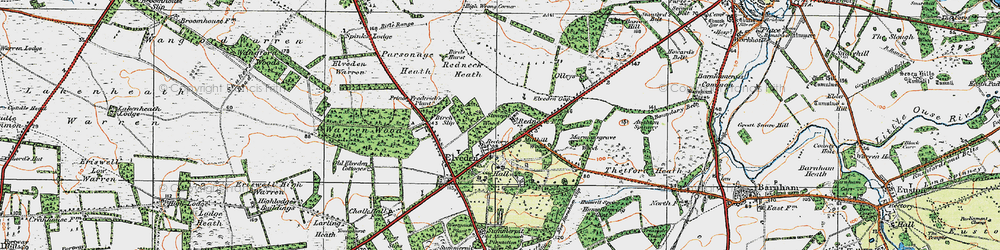 Old map of Westgouch Plantn in 1920