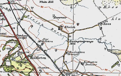 Old map of White Hill in 1926