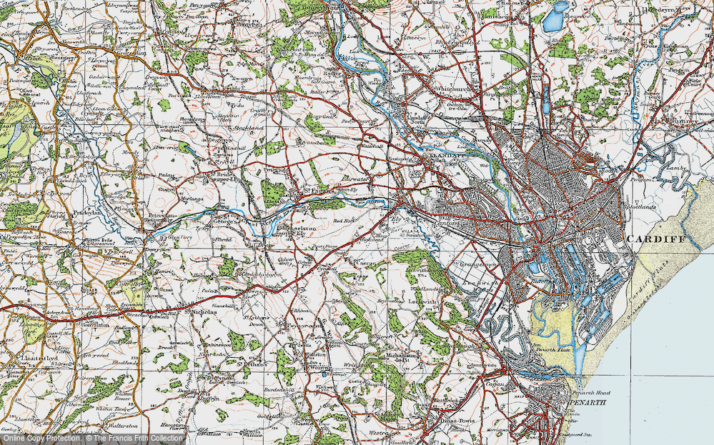 Old Map of Ely, 1919 in 1919
