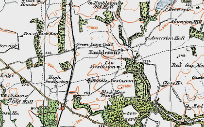 Old map of Amerston Hall in 1925