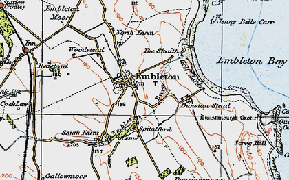 Old map of Woodstead in 1926