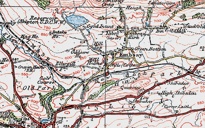 Old map of Embsay in 1925