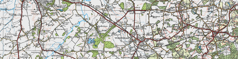Old map of Woose Hill in 1919
