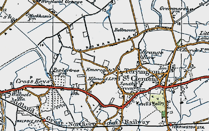 Old map of Wingland Grange in 1922