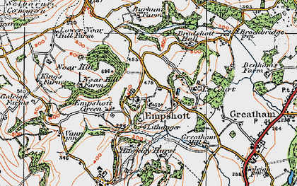 Old map of Le Court in 1919