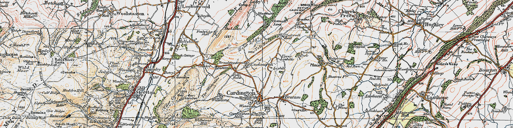 Old map of Yell Bank in 1921