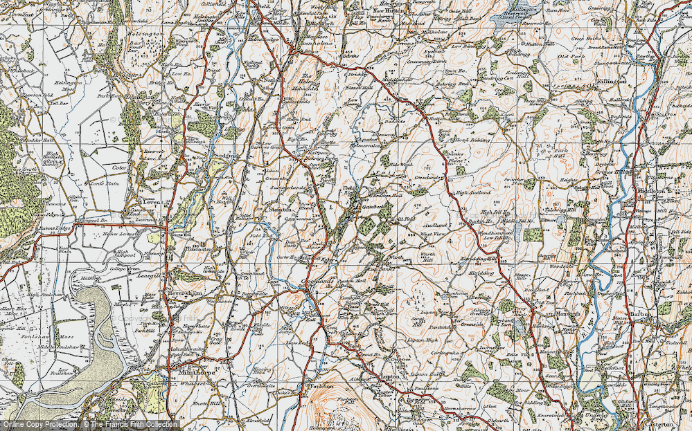 Old Map of Endmoor, 1925 in 1925