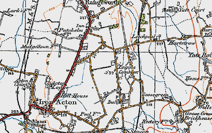 Old map of Acton Lodge in 1919