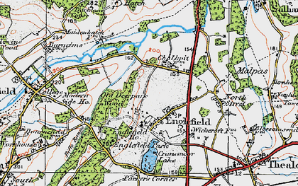 Old map of Englefield in 1919