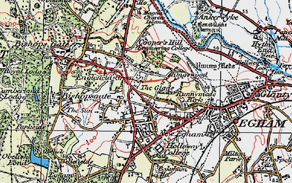 Old map of Englefield Green in 1920