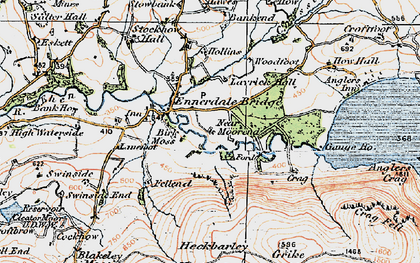 Old map of Lankrigg Moss in 1925