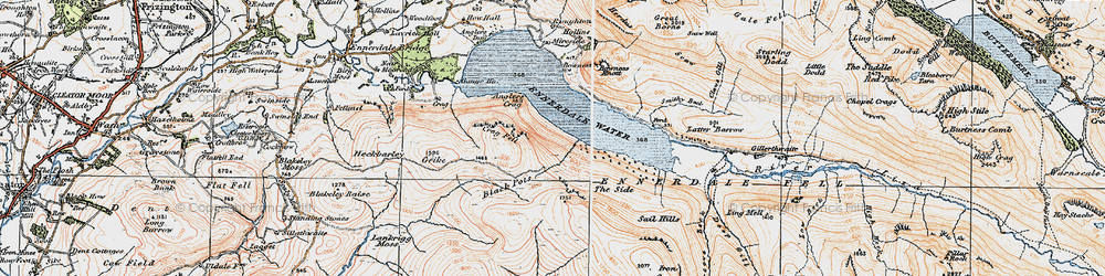 Old map of Whoap in 1925