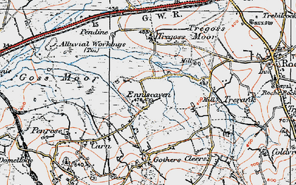 Old map of Enniscaven in 1919
