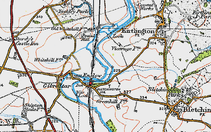 Old map of Whitehill Earth Station in 1919