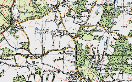 Old map of Woodcock Lodge in 1919