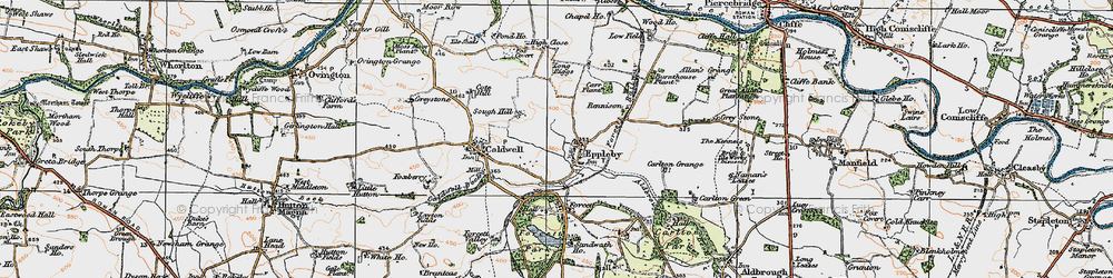 Old map of Eppleby in 1925