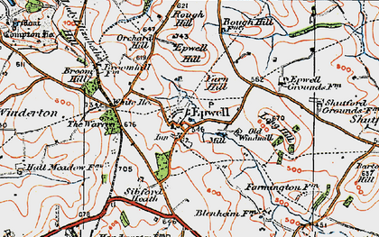 Old map of Yarn Hill in 1919