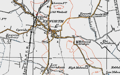Old map of Epworth in 1923