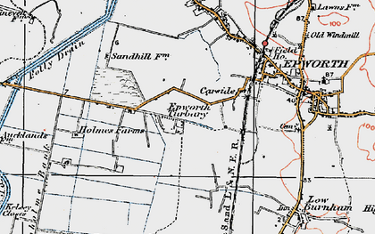 Old map of Epworth Turbary in 1923