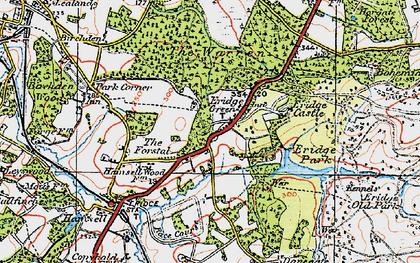 Old map of Eridge Green in 1920