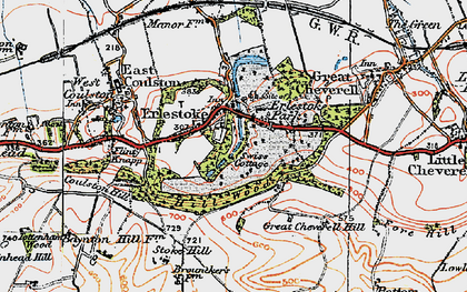 Old map of Erlestoke in 1919